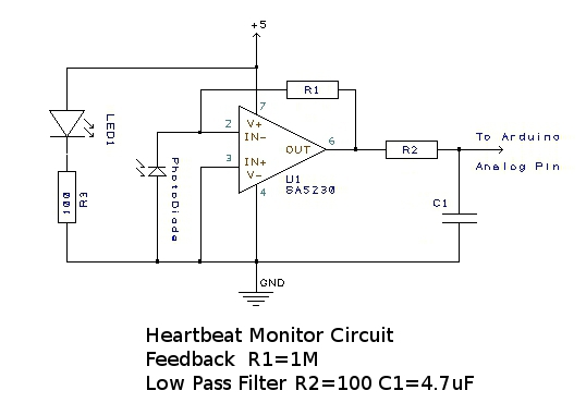 Heart Rate Monitor Circuit Diagram | Wiring Diagram For Pulse Monitor Wiring Diagram
